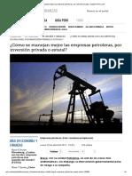 Cómo Se Manejan Mejor Las Empresas Petroleras