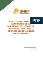 UNEF.analisis Impacto Economico de La Supresion Peaje de Respaldo