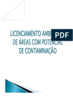 Licenciamento Ambiental Municipal de Áreas Com Potencial de Contaminação