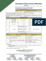 Calendário Escolar AEAMS 2016-2017