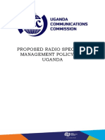 Proposed Spectrum Management Policy for Uganda