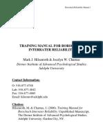 Hilsenroth Manual