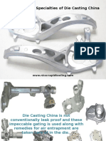 Some Common Specialties of Die Casting China