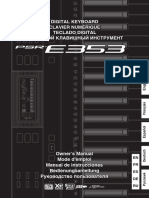 Yamaha PSR-E353 - Owner's Manual (Russian)
