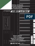 Yamaha PSR-E353 - Owner's Manual (Russian)