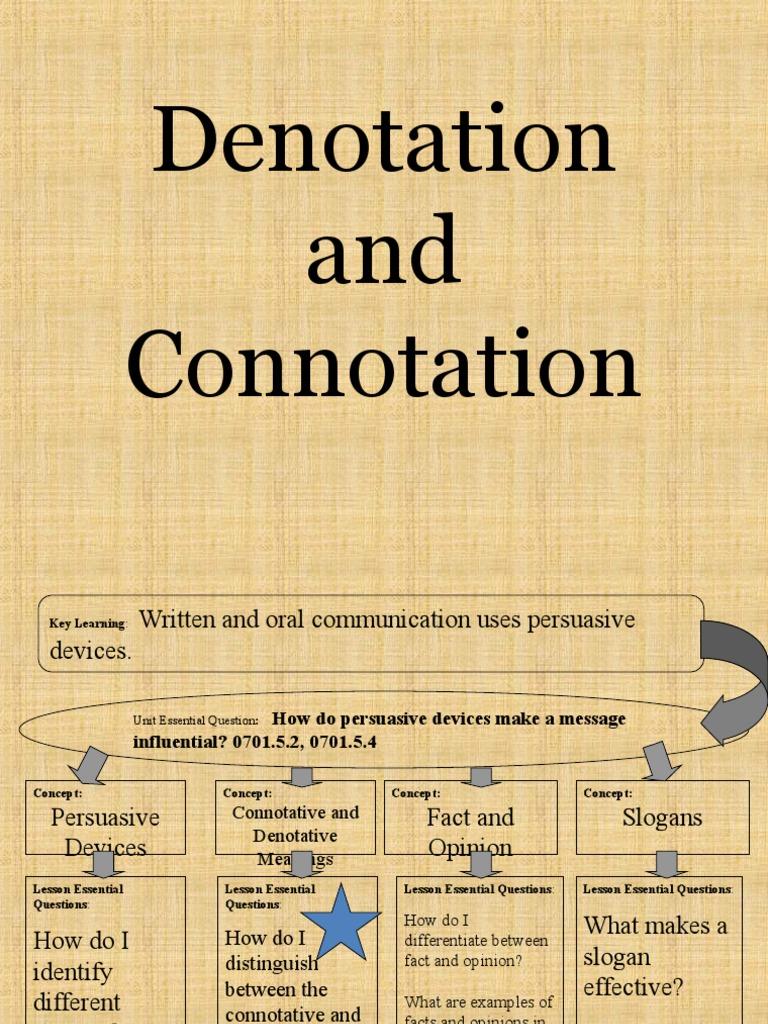 Denotation Connotation Definition