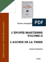 Varlet-joncquel Epopee Martienne 2 Agonie de La Terre