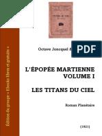 Varlet-joncquel Epopee Martienne 1 Titans Du Ciel