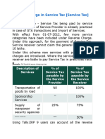 Reverse Charge in Service Tax