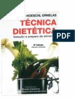 Livro Ornelas Técnica Dietética Seleção e Preparo de Alimentos