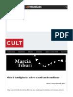 Revista Cult MARCIA TIBURI