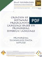 Primordial Symbolic Language Applied for Software Programming Language Creation