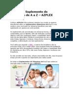 AZPLEX Completo Suplemento de Vítaminas de a a Z