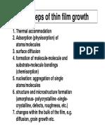 Thin film growth steps