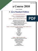 Java Course 2010