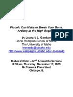 Leonard Garrison Piccolo Clinic