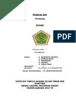 MAKALAH ZIHAR