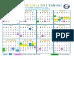 2017 Be Calendar