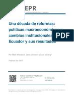 Una década de reformas