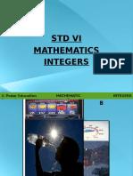 CBSE Std VI Math Integers