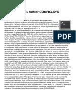 Commandes Du Fichier Config Sys 69 Ktin4n111111