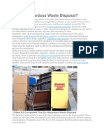 What is Hazardous Waste Disposal