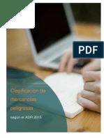 Clasificación de las mercancías peligrosas según el ADR