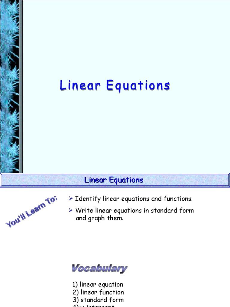 Linear equations equations pressure falaconquin