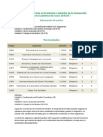 Oferta Academica Economia Gestion Innovacion 16-17