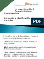 La Ciencia y Su Clasificacion