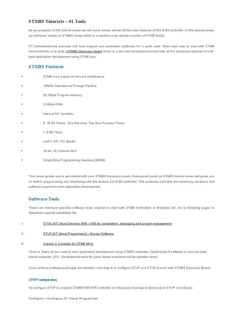 STM8S Tutorials | Microcontroller | Input/Output