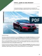 Motor.es-hidrógeno Contra Eléctrico Quién Es Más Eficiente