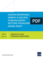 Bangladesh Making Renewable Energy Success