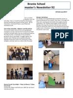 Newsletter No 92 - 10 February 2017
