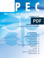 Monthly Oil Market Report - August 2016