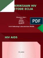Pemeriksaan Hiv Metode Eclia