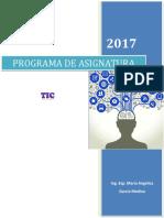 TIC- Programa de Asignatura_2017-I