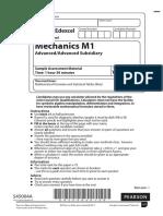 Specimen (IAL) QP - M1 Edexcel