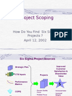 Six Sigma Project Scoping