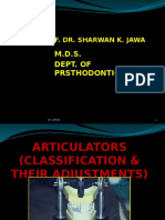 Articulators, Classification&Adjustment