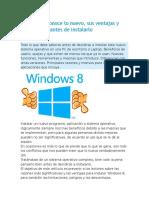 Windows 8 Conoce Lo Nuevo, Sus Ventajas y Limitaciones Antes de Instalarlo