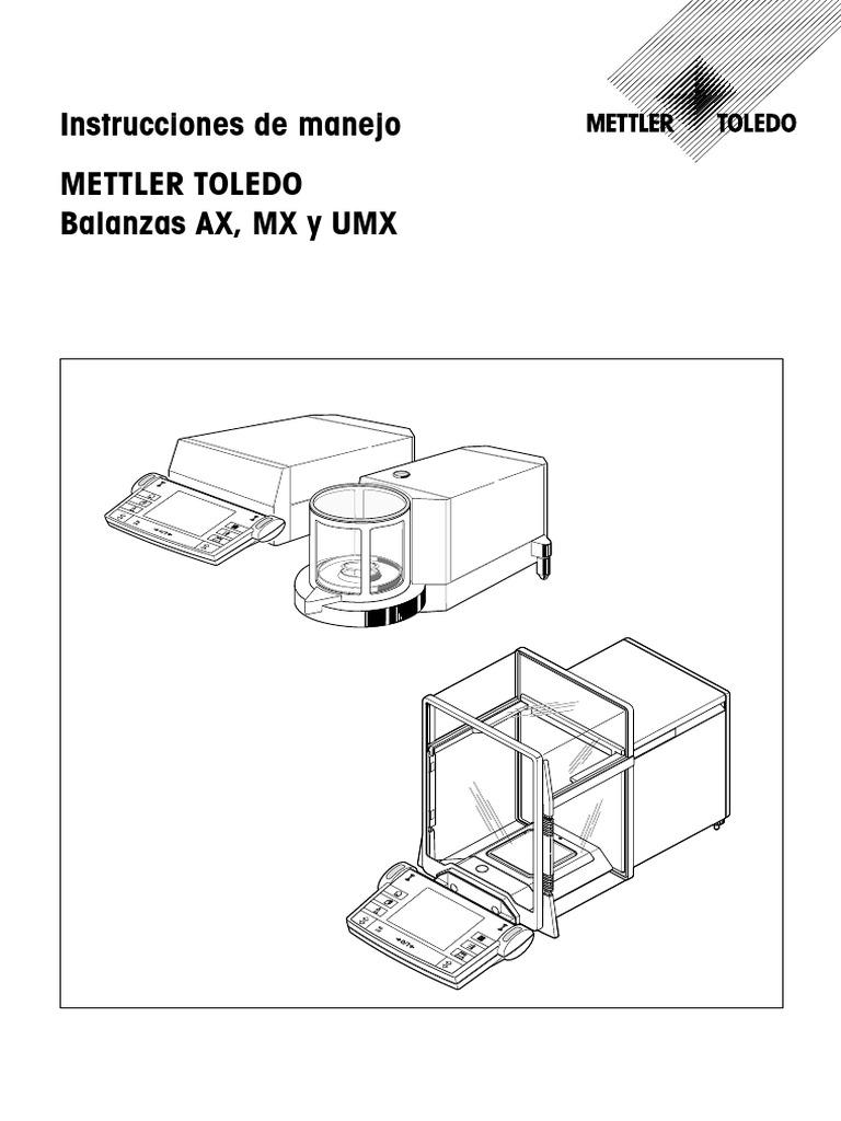 Instrucciones de manejo Mettler Toledo Balanzas AX, MX y UMX