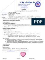 Allen Park City Council meeting agenda Feb. 14, 2017