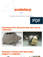 vocabulary- functional art armature composition