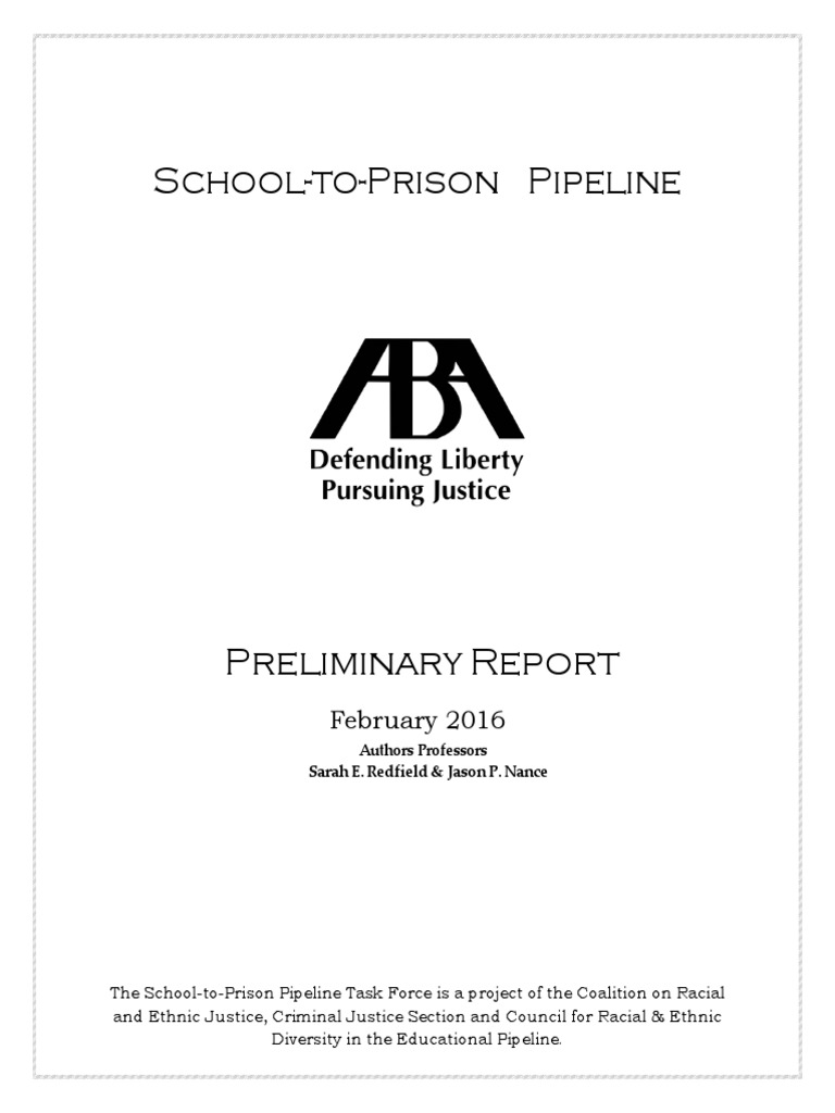 School to prison preliminary report finalthcheckdam american school to prison preliminary report finalthcheckdam american bar association juvenile delinquency fandeluxe Image collections