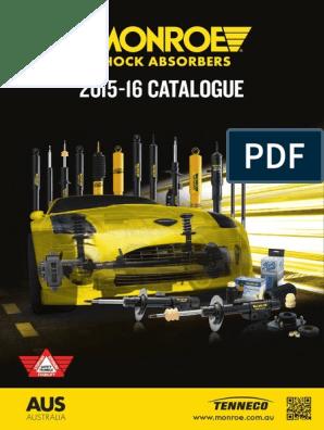 Monroe-Catalogue-2015 pdf | Suspension (Vehicle) | Piston