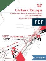 Galceran Huguet Montserrat.la Barbara Europa. Una Mirada Desde El Postcolonialismo y La Decolonialidad.