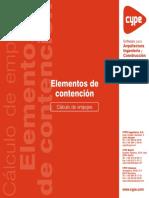 Elementos de Contención - Cálculo de Empujes