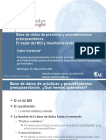 Base de Datos de Prácticas y Procedimientos Presupuestarios. El Papel Del BID y Resultados Preliminares