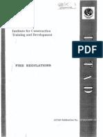 ICTAD Fire Regulations